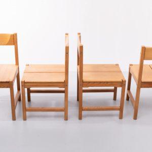 Tapio Wirkkala Pine dining chairs 1960s