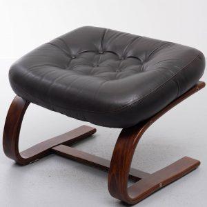 Kengu Leather ottoman Rykken Norway  1960s